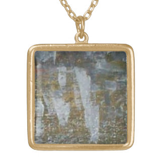 Clear Opal Gold Plated Necklace