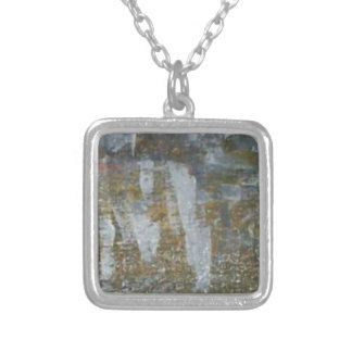 Clear Opal Silver Plated Necklace
