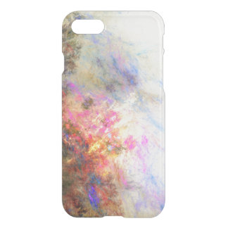 Clear paint ikat hipster neon purple yellow iPhone 7 case