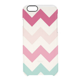 Clear pastel chevron zigzag zig zag pattern chic uncommon clearly™ deflector iPhone 6 case