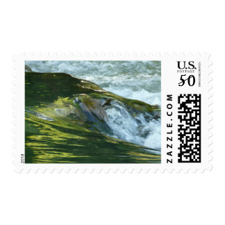 Clear River Waters Falls Bach Stamp