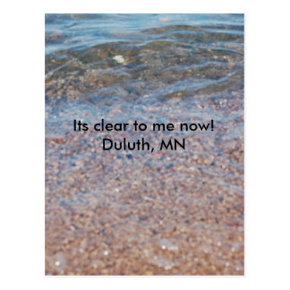Clear Rock Lake, Its clear to me now!   Duluth, MN Postcard