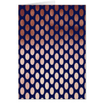 clear rose gold navy blue polka dots pattern