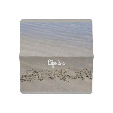 Beach Themed Clear sandy beach checkbook cover