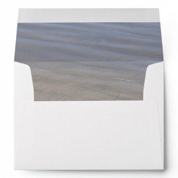 Beach Themed Clear Sandy Beach envelope