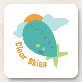 Clear Skies Drink Coaster