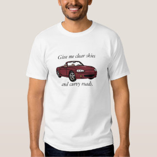 Clear Skies & Curvy Roads- Copper Red  Large T Shirt