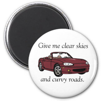 Clear Skies & Curvy Roads- Copper Red Magnet