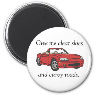 Clear Skies & Curvy Roads- Red Magnet