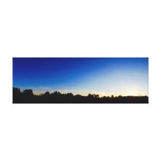Clear Sky Sunset Canvas Print