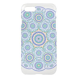 Clear transparent turquoise Mandala pattern symbol iPhone 7 Case