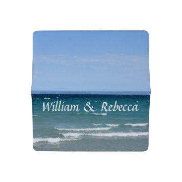 Beach Themed Clear turquoise beach checkbook cover