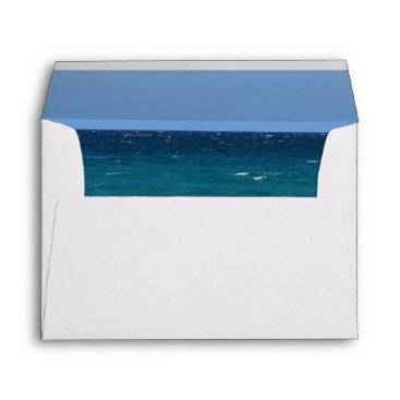 Beach Themed Clear turquoise beach envelope