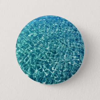 Clear Water Blue Pinback Button