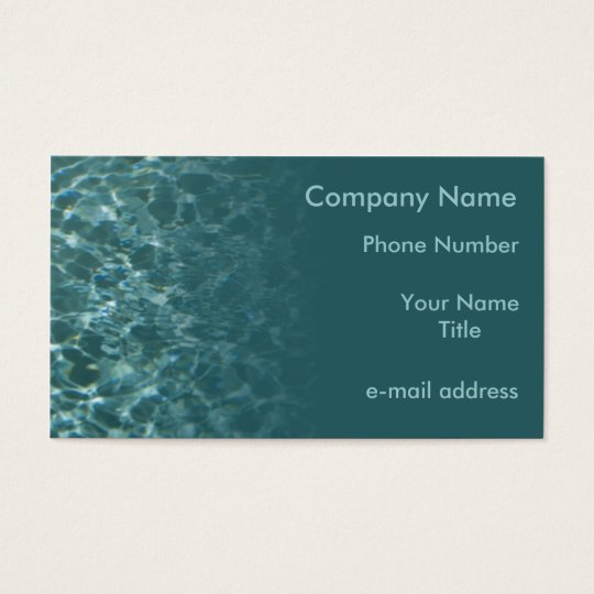 Clear Water Business Card