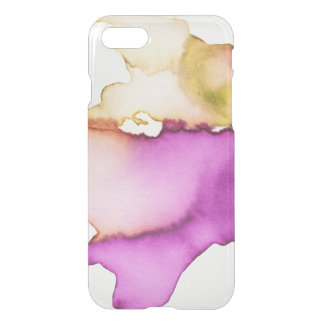 Clear watercolor ikat hipster neon purple yellow iPhone 7 case