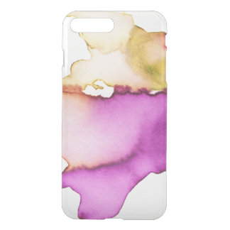 Clear watercolor ikat hipster neon purple yellow iPhone 7 plus case