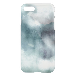 Clear watercolor ikat hipster pastel nautical blue iPhone 7 case