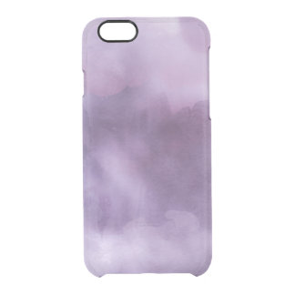 Clear watercolor ikat hipster pastel purple lilac clear iPhone 6/6S case