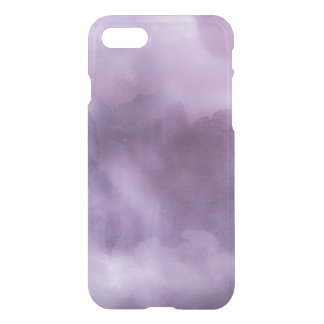 Clear watercolor ikat hipster pastel purple lilac iPhone 8/7 case
