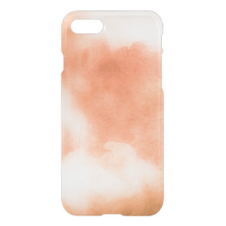 Clear watercolor ikat hipster peach coral orange iPhone 7 case