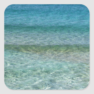 Clear Waters Square Sticker