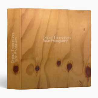 clear wood texture, personalized & rustic binder