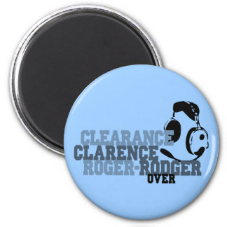 Clearance Clarence Roger Rodger Over 2 Inch Round Magnet