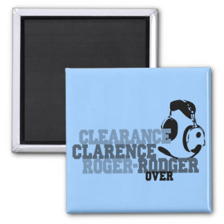 Clearance Clarence Roger Rodger Over 2 Inch Square Magnet