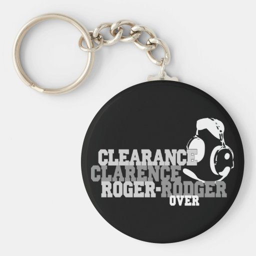 Clearance Clarence Roger Rodger Over Basic Round Button Keychain