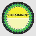 CLEARANCE PRICE TAG Retail Sticker