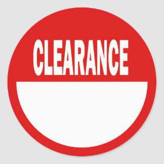Clearance Retail Stickers