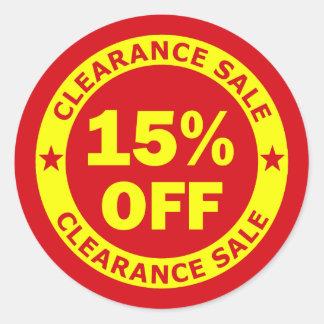 Clearance Sale 15 Percent Off Classic Round Sticker