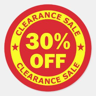 Clearance Sale 30 Percent Off Classic Round Sticker
