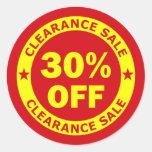 Clearance Sale 30 Percent Off Sticker