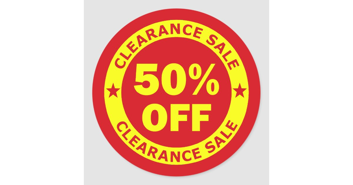 Clearance sale 50 percent off classic round sticker for Bathroom 94 percent