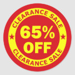 Clearance Sale 65 Percent Off Classic Round Sticker