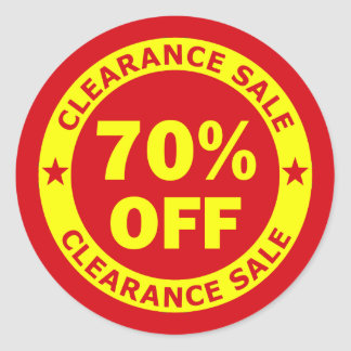 Clearance Sale 70 Percent Off Classic Round Sticker