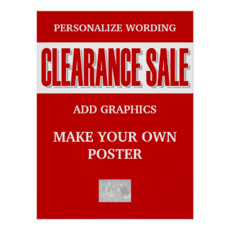 Clearance sale business retail poster