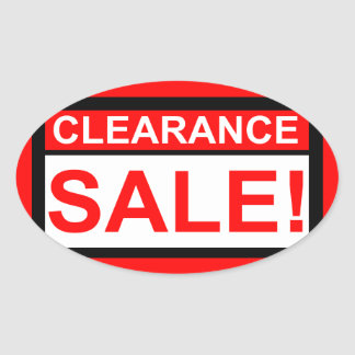 Clearance sale oval stickers
