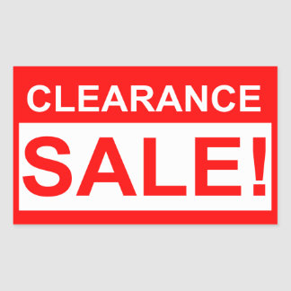 Clearance sale red stickers