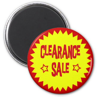 CLEARANCE SALE RETAIL BADGE 2 INCH ROUND MAGNET