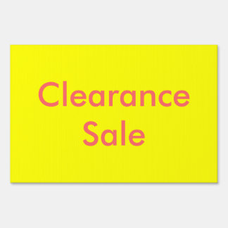 Clearance Sale Sign