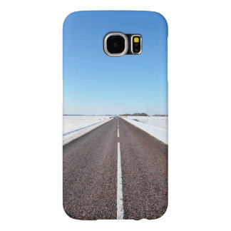 Cleared Road After Snowfall Samsung Galaxy S6 Case