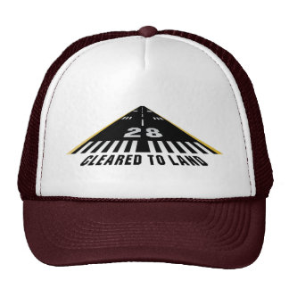 Cleared To Land Runway Trucker Hat