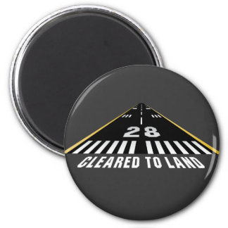 Cleared To Land Runway Magnet