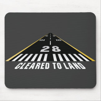 Cleared To Land Runway Mouse Pad