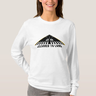 Cleared To Land Runway T-Shirt