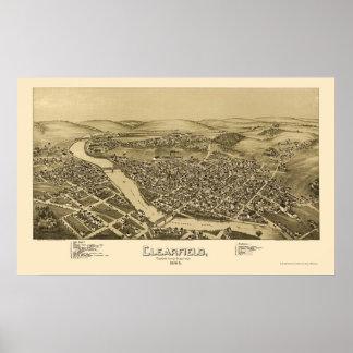 Clearfield, PA Panoramic Map - 1895 Print