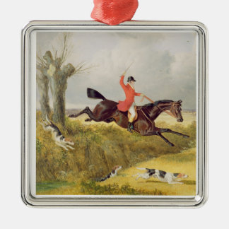 Clearing a Ditch, 1839 (oil on panel) Metal Ornament